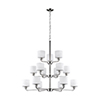 This item: Nora Brushed Nickel 40-Inch 15-Light Chandelier