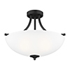 This item: James Blacksmith 19-Inch Three-Light Semi Flush Mount
