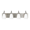 This item: Nora Brushed Nickel 28-Inch Four-Light Bath Vanity