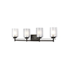 This item: Uptown Bronze Four-Light Wall Sconce