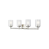 This item: Uptown Brushed Nickel Four-Light Wall Sconce