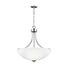 This item: James Brushed Nickel 25-Inch Four-Light Pendant