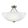 This item: James Brushed Nickel Energy Star 25-Inch Four-Light Semi Flush Mount