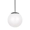 This item: Cora Globe Satin Aluminium 12-Inch LED Pendant