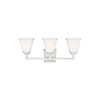 This item: Aster Brushed Nickel Three-Light Energy Star Wall Sconce