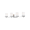 This item: Loring Chrome Four-Light Wall Sconce