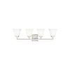 This item: Aster Brushed Nickel Four-Light Wall Sconce
