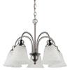 This item: Webster Brushed Nickel Five-Light Downlight Chandelier