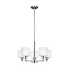 This item: Nora Brushed Nickel 24-Inch Five-Light Chandelier