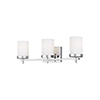 This item: Loring Chrome Three-Light Energy Star Wall Sconce