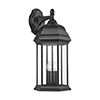 This item: Russell Black Three-Light Energy Star Outdoor Wall Lantern