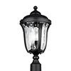 This item: Charlotte Black Three-Light Energy Star Outdoor Post Lantern