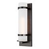 This item: Fredrick Antique Bronze Eight-Inch One-Light Outdoor Wall Lantern