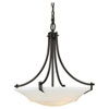 This item: Evelyn Oil Rubbed Bronze Three-Light Uplight Pendant