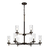 This item: Loring Brushed Oil Rubbed Bronze Nine-Light Chandelier