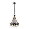 This item: Sophia Washed Pine Three-Light Chandelier