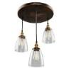 This item: Revolution Brown 10-Inch Three-Light Pendant
