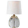 This item: Ava Crystal and Polished Nickel 12-Inch One-Light Crystal Lamp