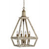This item: Hana Weathered White Four-Light Pendant