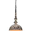 This item: Iris Cream and Dusky Brown 28-Inch One-Light Pendant