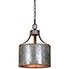 This item: Iris Galvanized 16-Inch One-Light Pendant