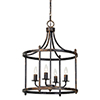 This item: Charlotte Rustic Black 28-Inch Four-Light Chandelier