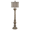 This item: Hana Taupe with Gold Accents 66-Inch One-Light Floor Lamp