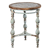 This item: Hana Rustic Blue and Reclaimed Wood Side Table