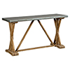 This item: Sophia Weathered Zink and Brown Wash Console