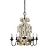 This item: Charlotte Antique White with Gold and Rustic Black Four-Light Chandelier