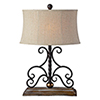 This item: Russell Weathered Wood and Washed Metal 27-Inch One-Light Table Lamp