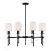 This item: Kate Matte Black 34-Inch Eight-Light Chandelier