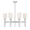 This item: Kate Polished Nickel 34-Inch Eight-Light Chandelier