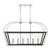 This item: Cora Matte Black with Polished Chrome Accents 16-Inch Six-Light Pendant