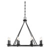 This item: Elle Classic Bronze 33-Inch Eight-Light Chandelier
