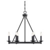 This item: Elle Matte Black 25-Inch Six-Light Chandelier