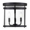 This item: Anita Black 13-Inch Three-Light Semi Flushmount