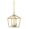 This item: Anna Polished Brass 10-Inch Three-Light Pendant