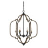 This item: Lex Barrelwood with Brass Accents 25-Inch Six-Light Chandelier