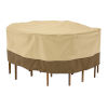 This item: Ash Pebble and Bark Round Patio Table and Chair Set Cover