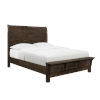 This item: Fulton Ash Brown King Bed with Curved Plank Headboard