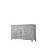 This item: Grace Light Gray and Aged Brass Dresser