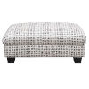 This item: Linden Charcoal Dot Ottoman