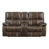 This item: Selby Chocolate Brown Reclining Loveseat with USB Charging Station