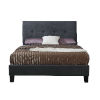 This item: Selby Charcoal Gray Full Upholstered Bed with Padded Headboard