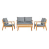 This item: Darren Natural and Gray Outdoor Furniture Set
