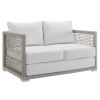 This item: Roat Gray and White Outdoor Patio Loveseat
