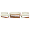 This item: Taryn Natural and White Six Piece Outdoor Patio Furniture Set with Coffee Table, Sofa, Two Armchair, Two Ottoman