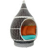 This item: Darren Brown and Turquoise 48-Inch Outdoor Patio Swing Chair
