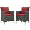 This item: Taryn Canvas Red Two Piece Outdoor Patio Dining Arm Chair, Set of 2